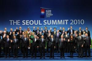 12 Nov 2010: World economic representatives at the G20 Summit (Photo: © Li Xueren / Xinhua Press / Corbis)