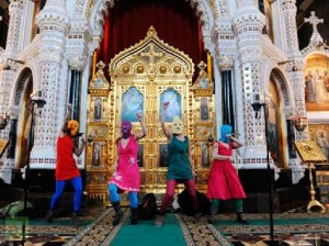 """Performing the """"Punk prayer"""" in Cathedral"""