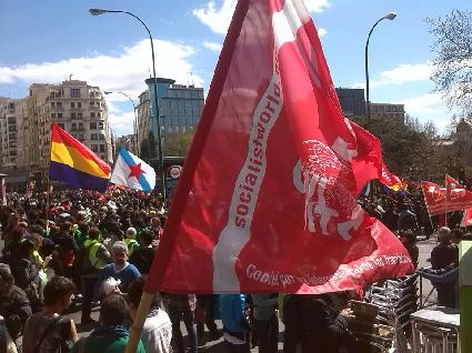 CWI flag on the march
