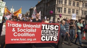 TUSC on the NUT London strike demonstration on 28 March 2012