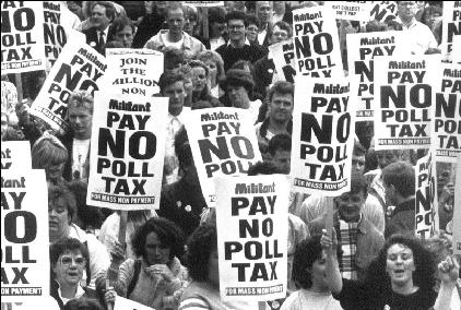 Anti-Poll Tax Rally