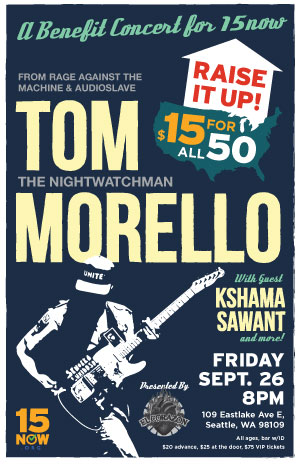 15 Now Benefit Show with Tom Morello -- Buy Tickets
