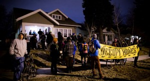 Activists protecting a home from foreclosure. Source: Mark R. Brown / Mark R. Brown Photography
