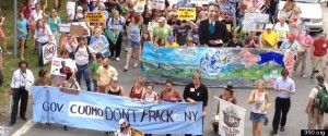 Anti-fracking protest in New York.