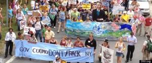Anti-fracking protest in New York.
