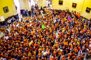 Protestors at the Texas State House (Photo: Nick Swartsell)