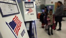 Citizens voting in the US. Photo: John Moore/Getty Images