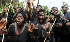 A women's protest march in Jos (Photo: Pius Utomi Ekpei/AFP/Getty Images)