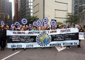 UAW marches with the People's Climate March in NYC