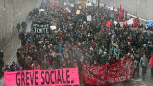 Students demonstrate against austerity changes proposed by the provincial government Saturday, March 21, 2015 in Montreal. (Photo: Ryan Remiorz/Canadian Press)