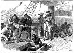 On Board a Slave-Ship, engraving by Joseph Swain c. 1835, © Rischgitz / Getty Images