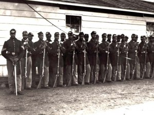 Soldiers from the 54th Massachusetts Regiment, 1863