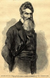 Engraving of John Brown from the front page of Frank Leslie's Illustrated Newspaper, November 19th, 1859.