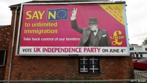 UKIP propaganda poster calling for an end to immigration (Photo: Getty Images)