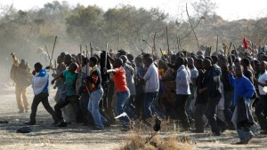 A Colonel said the shootings that led to the deaths of 34 Lonmin mineworkers only lasted eight seconds. (Photo: SABC)