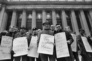 Postal workers strike in 1970 (Photo: New York Times)