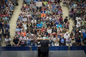 Rally for Bernie in Madison, Wisconsin on July 1, 2015 (Photo: Christopher Dilts - Bloomberg/Getty Images)