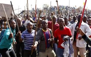 Striking workers at the Marikana mine (Photo: Siphiwe Sibeko/REUTERS)