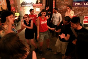 Socialist Alternative members celebrate with supporters