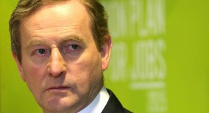 Taoiseach Enda Kenny said that he recently rejected criticism of water charges from a man who was holding two pints, saying that they cost the equivalent of ten weeks of water (Photo: breakingnews.ie)