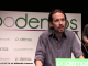 Pablo Iglesias Turrión during a Podemos Presentation, January 16, 2014, Madrid, Spain