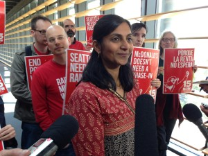 Kshama Sawant with 15 Now Activists