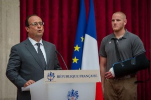French President Francois Hollande on August 24. Two weeks later, he announced France will begin preparing for air strikes on Syria (Photo: U.S. Air Force / Ryan Crane / UPI)