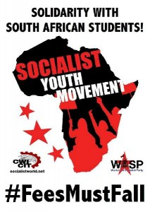 Workers and Socialist Party and the Committee for a Worker's International stands in solidarity in South Africa.