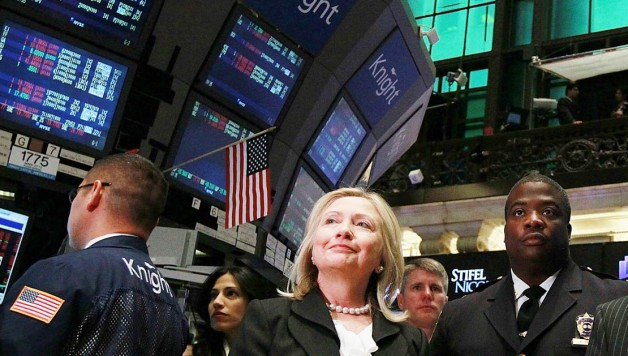 hillarywallstreet_getty1