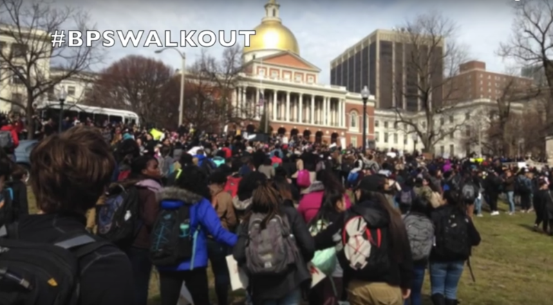 Boston Public Schools Student Walk Out and Protest #BPSWALKOUT Photo Credit: youtube.com