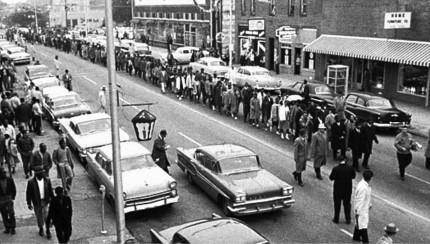 Montgomery Bus Boycott March.