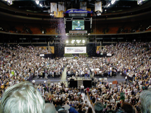 "12,000-strong Ralph Nader ""super rally"" at the Fleet Center in Boston"