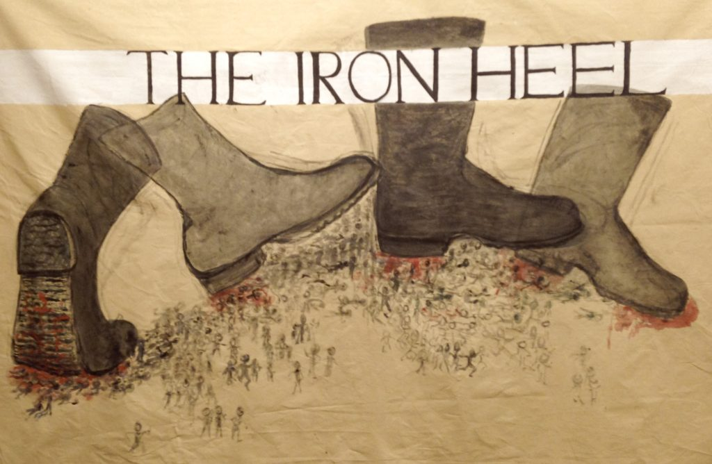 a review of the iron heel a novel by jack london All of them are lifted from jack london's 1908 novel the iron heel, and  there  are passages that read as eerily prescient analysis, not only of.