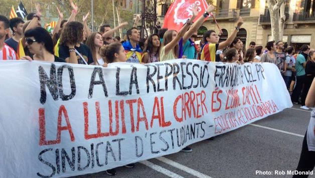 Spain/Catalonia: Historic General Strike in Catalonia. Out With the PP Government!
