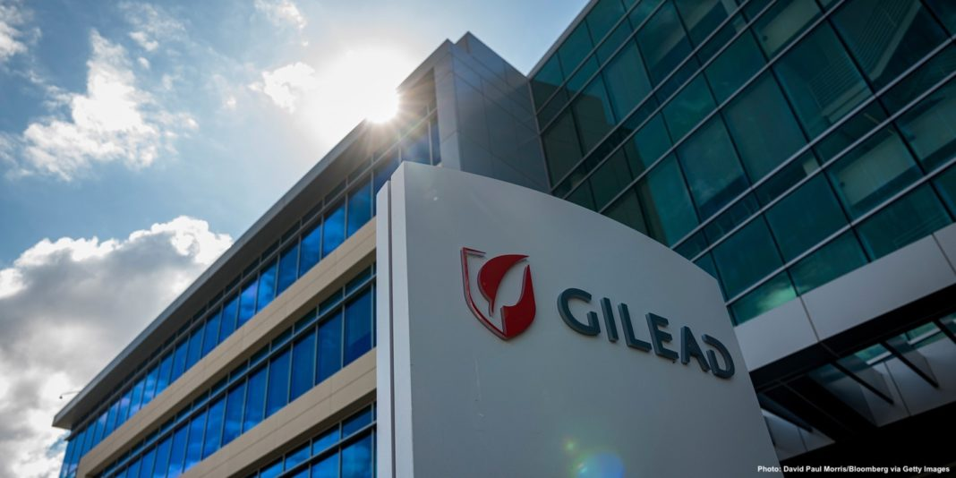 The Gilead Sciences Inc. headquarters in Foster City, Calif., on March 19, 2020. Photo: David Paul Morris/Bloomberg via Getty Images